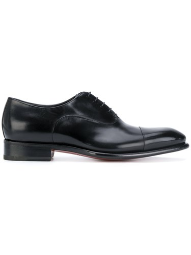Santoni Classic Oxford Shoes Leather Black 11u54js