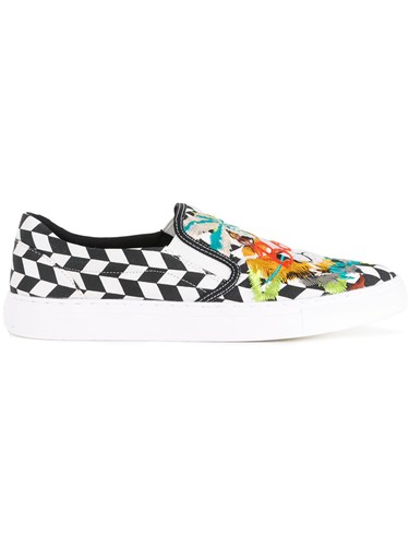 Doublet Skull Embroidered Slip On Sneakers White oujPGu7sC