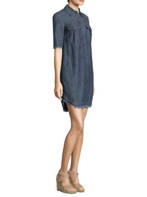 Trina Turk Rosetta Denim Shift Dress Indigo Y6HpspDlz
