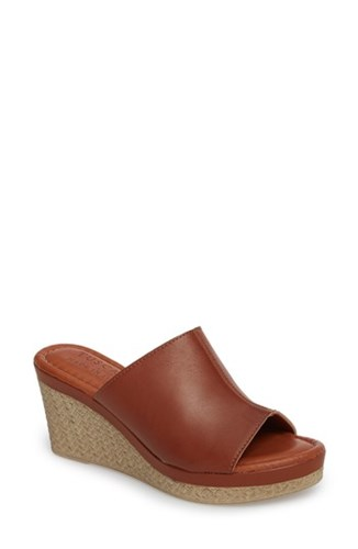 Leather Tuscany Octavia Cognac Faux 'S Wedge Street Espadrille By Easy qg7vq