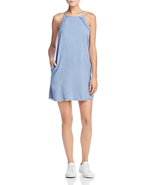 Bella Dahl Frayed Chambray Dress Denim Blue nY4GEg9