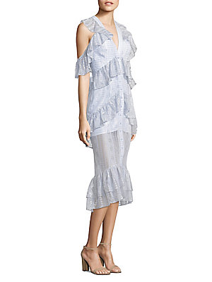 Periwinkle Cold Dress Lace McCall Melody Shoulder Alice wfYUA