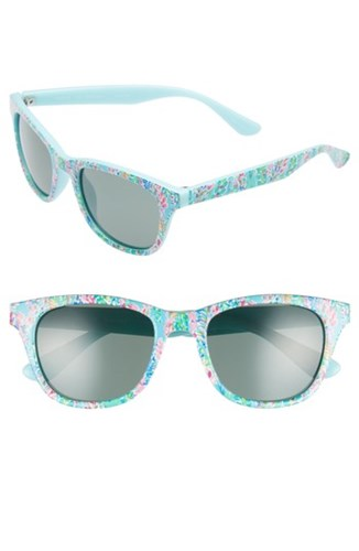 Maddie 52Mm Polarized Mirrored Sunglasses Catch The Wave Green Catch The Wave Green