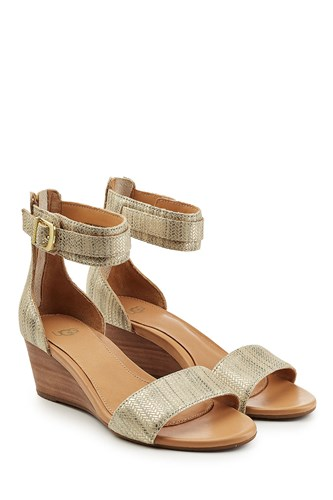 UGG Australia Metallic Leather Wedges Mjn2zjCg