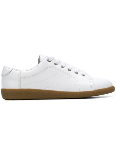 Maison Martin Margiela Flat Lace Up Sneakers White WxU2pNiQ