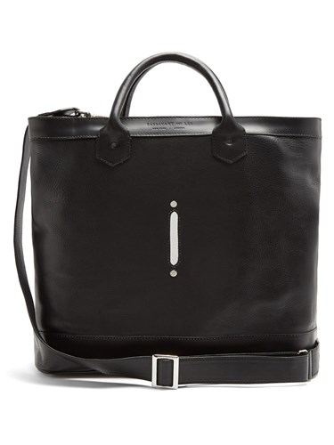 PASSAVANT AND LEE Scier Leather Aluminium Tote Black MqvaozemP