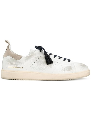 Golden Goose Deluxe Brand Rose Edition Sneakers Cotton Leather Rubber White Y774Kf4tA