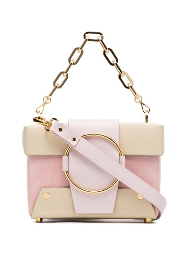 Yuzefi Pink And Nude Asher Leather And Suede Box Bag Pink And Purple FXhp9C2jS