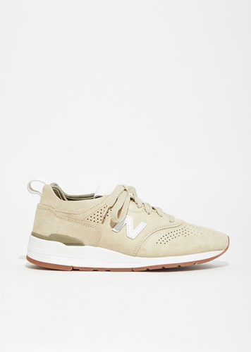 New Balance 997 Pig Suede Leather Sneakers Sand White YH15Ia0W