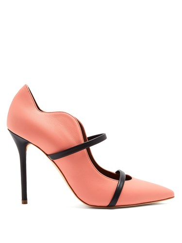 Malone Souliers Maureen Leather Pumps Pink Navy t7kg5