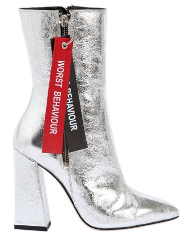 Silver Boots HAVVA Metallic Behaviour 100Mm Worst U1xq6z