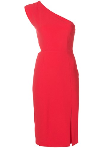 Alice + Olivia Fitted One Shoulder Dress Red 9ifN6