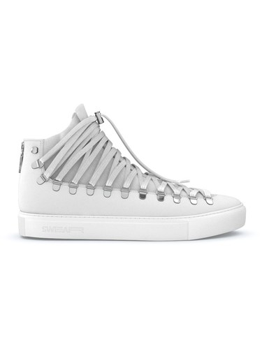 Swear Redchurch Hi Top Sneakers Calf Leather Nappa Leather Rubber White QADs0H