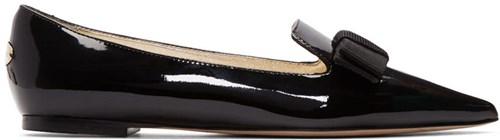 Jimmy Choo Black Patent Gala Loafers CY0302iE