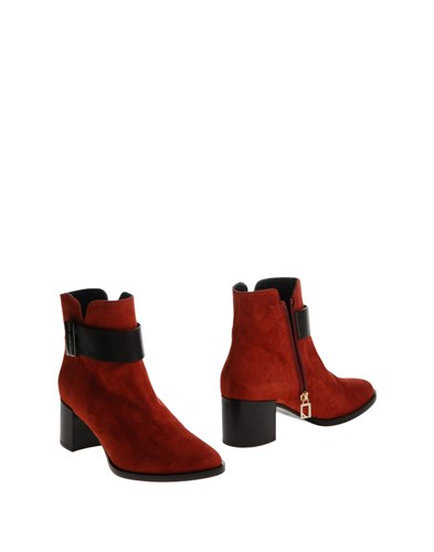 Ankle Boots Rust