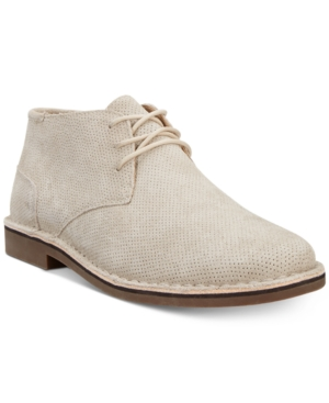 Kenneth Cole Reaction Men's Desert Sun Perforated Chukka Boots Men's Shoes Taupe bBsDOSC