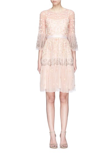 Needle & Thread 'Climbing Blossom' Floral Embellished Tulle Dress Pink RHs3CyyEq