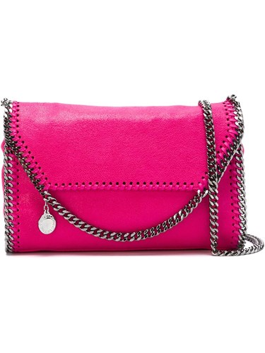 Stella McCartney Tiny 'Falabella Shaggy Deer' Fold Over Tote Pink And Purple JOUmD