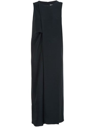 Maison Martin Margiela Front Pleat Midi Dress Black zl6WMUhLLP