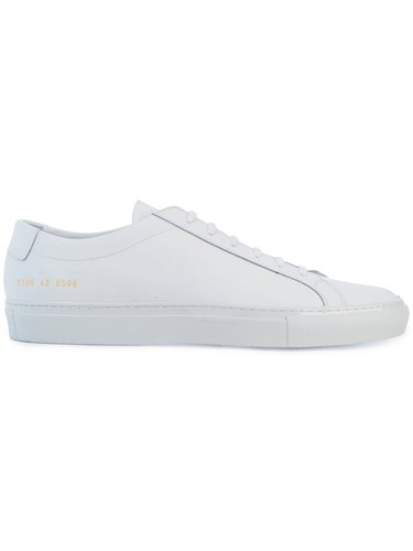 Common Projects Lace Up Sneakers Calf Leather Leather Rubber White jJQhHRYJ