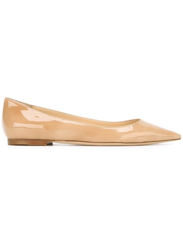 Jimmy Choo 'Romy' Ballerinas Nude And Neutrals FREC37