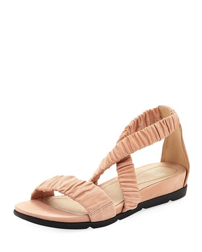 Eileen Fisher Dylan Tumbled Scrunched Sandal Toffee Cream 2MQeMKoWk