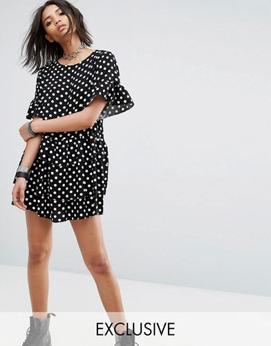 Milk Robe T Spot Vintage À It Noir Shirt Spot zpPznAxOB