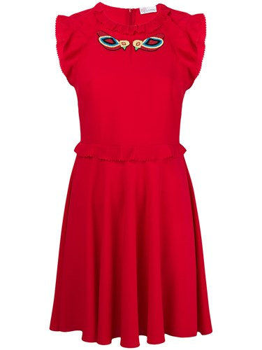 RED Valentino Ruffle Trim Skater Dress 9YUFG3N0D