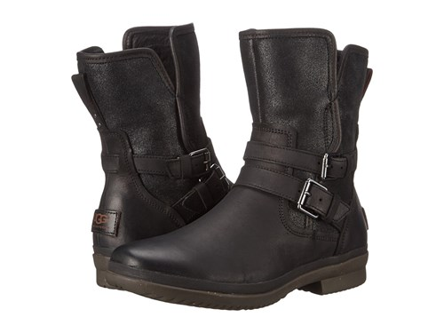 UGG Simmens Black Leather Women's Boots NK1PhkEFa9