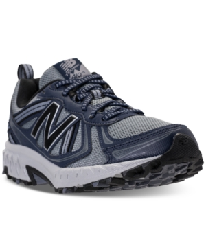 New Balance Men's Mt410 V5 Running Sneakers From Finish Line Grey Navy CiMEd