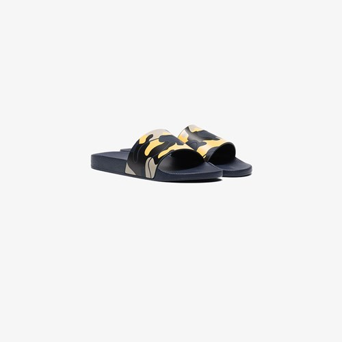 Camouflage Yellow Slides Navy Valentino And Blue Pool qtwftEc4