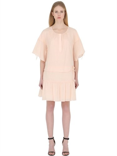See by Chloe Cotton Voile Dress With Ties M5KtG6