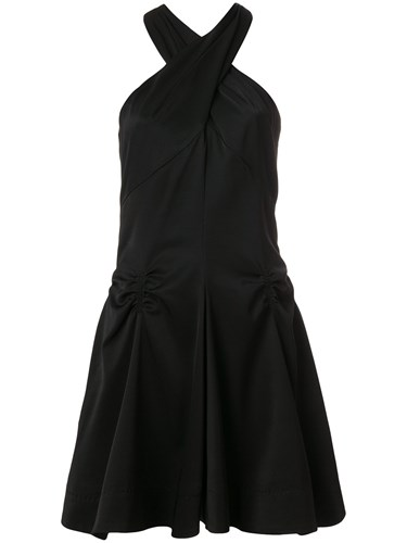 Carven Ruched Detail Halterneck Dress Black ZeafEx