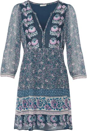 Joie Emlen Printed Silk Chiffon Mini Dress HIeZy6