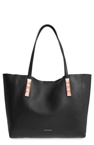 Ted Baker London Pionila Leather Tote Black SvwQ4lXa