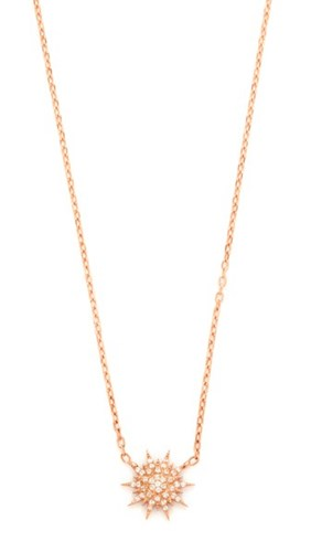 Mini Star Necklace Clear Rose Gold
