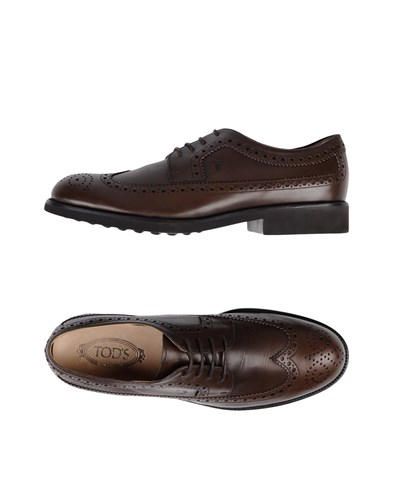 Tod's Lace Up Shoes Dark Brown IkNVit