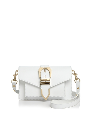 Versus By Versace Buckle Shoulder Bag Optic White Light Gold lsThOQ