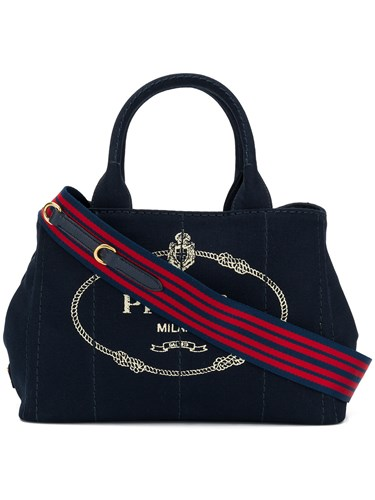 Prada Denim Tote Bag Blue aQItFX