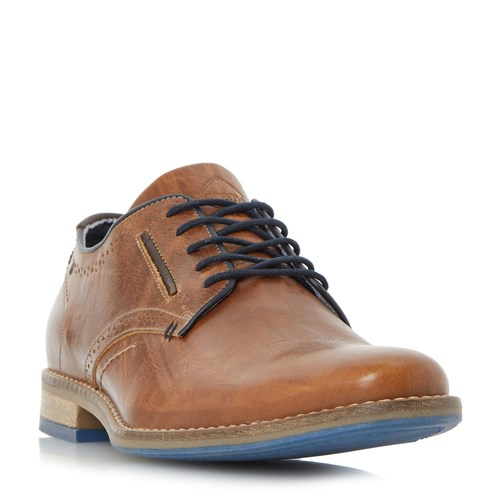 Dune Brewer Piped Gibson Casual Shoes Tan iuIyBYo