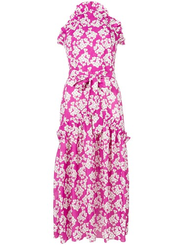 Borgo De Nor Dora Dress Polyester Pink Purple lGQEmwmx