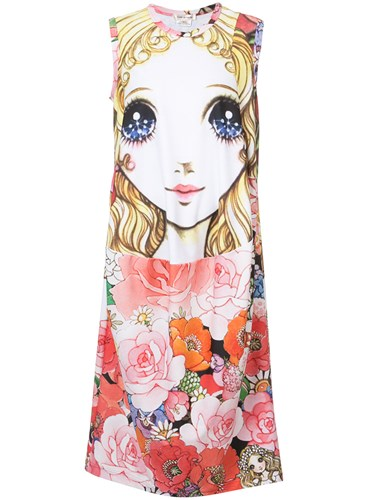 Comme des Garcons Printed Doll Shirt Dress Multicolour iQXgpfO6Os