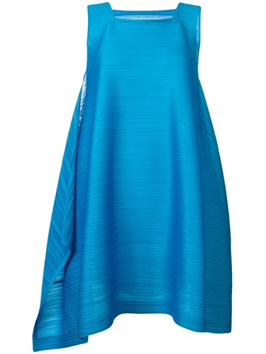 Issey Miyake Pleats Please By Square Neck Dress Blue pZyWpdidn