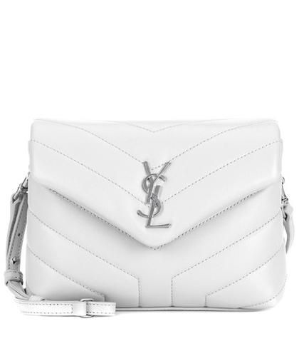 Saint Laurent Loulou Toy Leather Shoulder Bag White OhJx19J5