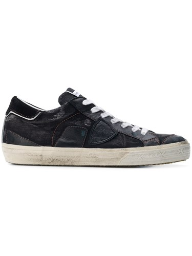 Philippe Model Lace Up Flat Sneakers Black 7hgK30o9i