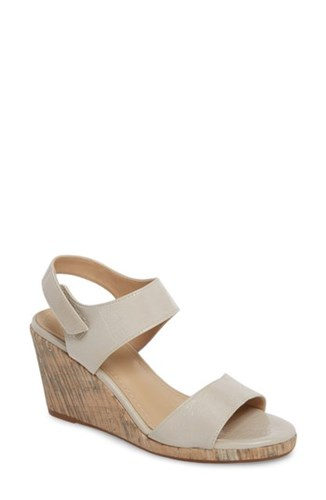 Johnston & Murphy Glenna Wedge Sandal Ice Leather ZT59a