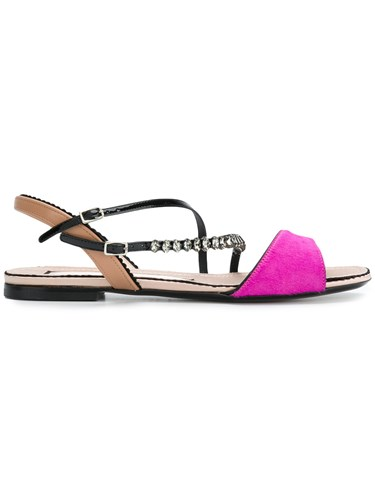 Sandals Purple And Strap Studded Pink No21 Multi N°21 I0wq4FO