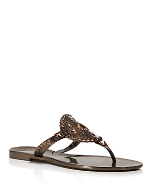 Jack Rogers Thong Sandals Georgica Jelly Bronze RvmObAfDFo
