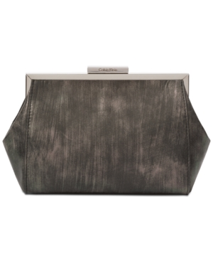 Calvin Klein Brushed Metallic Small Clutch Gunmetal Brushed Metallic fJqFsi