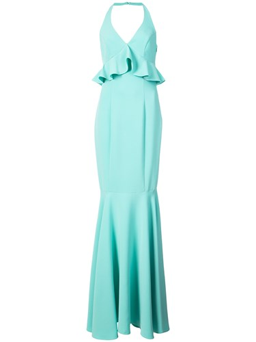 Likely Halter Neck Fishtail Gown Blue DpfMdYJh